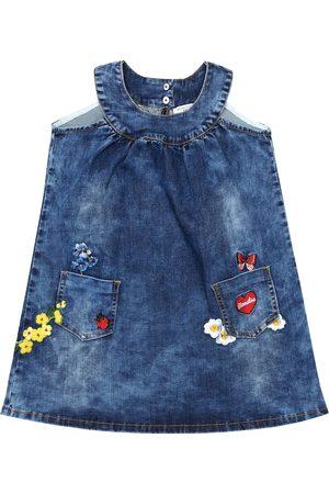 MONNALISA Niemowlę Sukienki - Cotton-blend denim dress