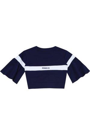 MONNALISA Cotton-blend jersey sweatshirt