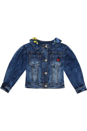 MONNALISA Cotton-blend denim jacket