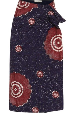 ULLA JOHNSON Ember printed cotton midi skirt