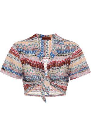 Missoni Striped crochet crop top