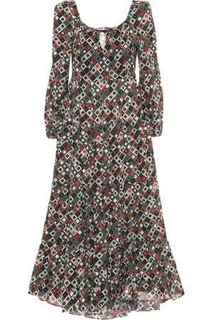RIXO London Cameron printed cotton maxi dress