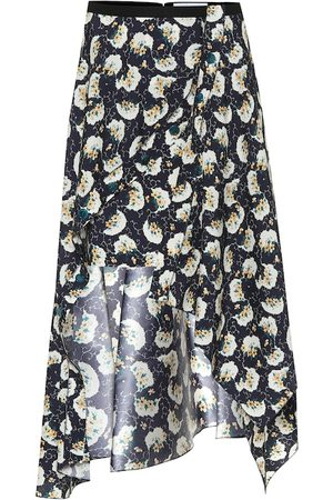 Chloé High-rise stretch-silk midi skirt