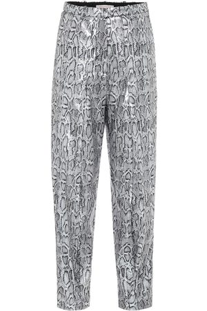 Christopher Kane Snake-effect high-rise pants