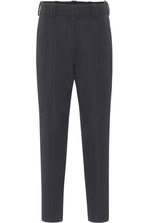 Balmain Wool high-rise tapered pants