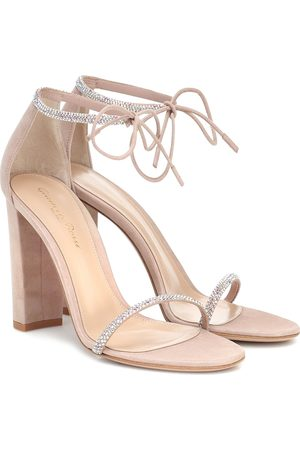 Gianvito Rossi Aria embellished suede sandals