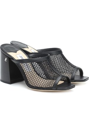 Jimmy choo Joud 85 mesh and leather sandals
