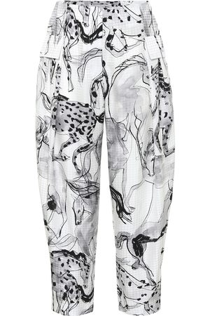 Stella McCartney Rosalinda printed silk pants