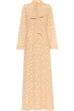 Chloé Embroidered silk maxi dress