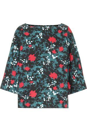 Marni Printed cotton and linen top