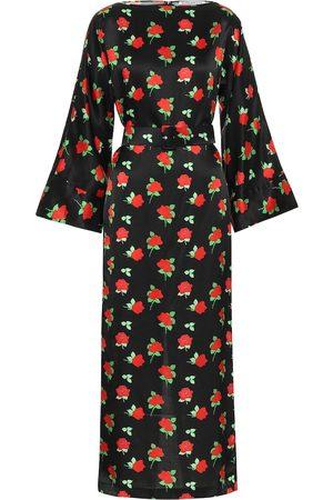 Bernadette Kobieta Sukienki z nadrukiem - Jackie floral satin midi dress
