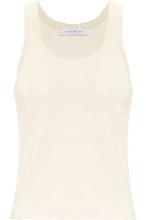 RYAN ROCHE Kobieta Koszule - Stretch-knit tank top