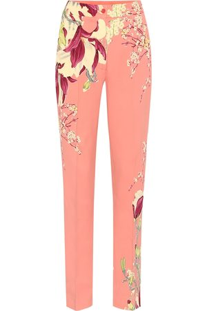 Etro High-rise straight crêpe pants