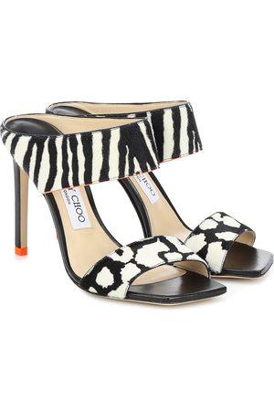 Jimmy choo Hira 100 printed calf hair sandals