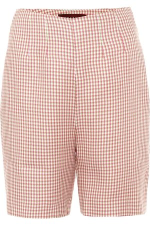 AlexaChung High-rise houndstooth shorts