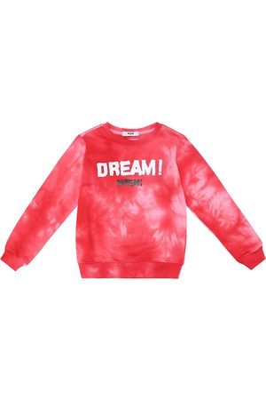 Msgm Tie-dye cotton sweatshirt