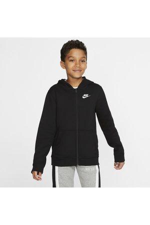 Nike Bluza z kapturem i zamkiem na całej długości dla dużych dzieci Sportswear Club