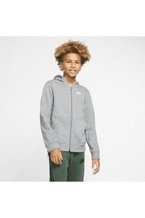 Nike Bluzy z kapturem - Bluza z kapturem i zamkiem na całej długości dla dużych dzieci Sportswear Club