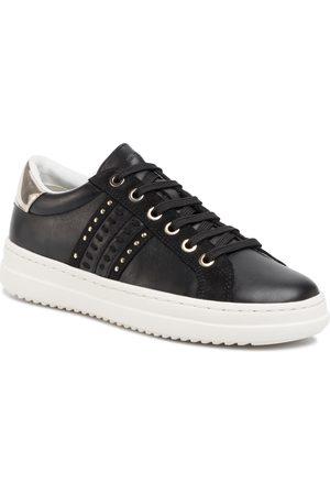 Geox Kobieta Sneakersy - Sneakersy - D Pontoise D D02FED 085BN C9258 Black/Lt Gold