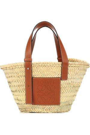 Loewe Leather-trimmed basket tote