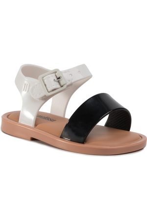 Melissa Sandały - Mini Mar Sandal III Bb 32633 Black/White/Brown 52909
