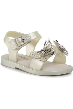 Melissa Sandały - Mini Mar Sandal Fly Bb 32746 White/Silver 53609