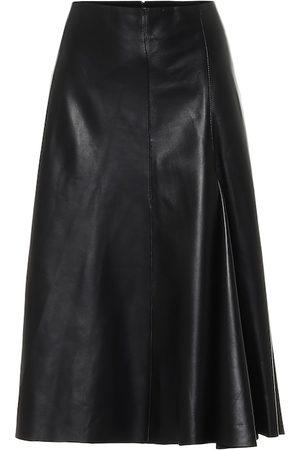 Joseph High-rise leather skirt