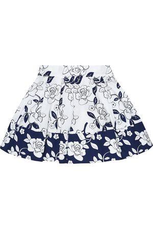 MONNALISA Floral cotton A-line skirt