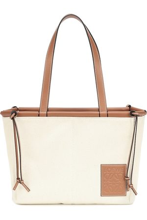 Loewe Cushion Small canvas and leather tote