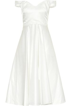 Marchesa Notte Satin midi dress