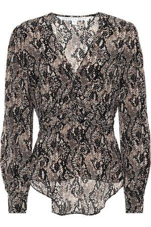 VERONICA BEARD Thea snake-print silk blouse