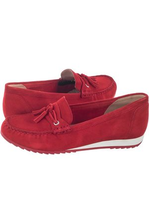 Caprice Mokasyny Czerwone 9-24250-24 524 Red Suede (CP186-a)