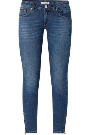 Tommy Hilfiger Jeansy z niskim stanem o kroju skinny fit z dodatkiem streczu model 'Scarlett'