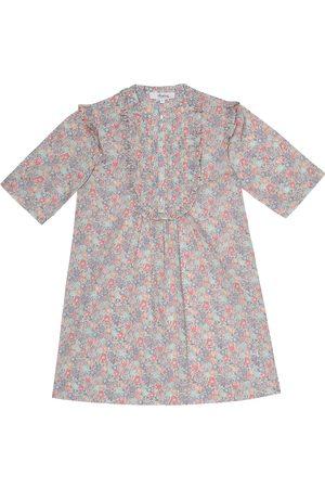 BONPOINT Niemowlę Sukienki z nadrukiem - Nalou floral cotton dress