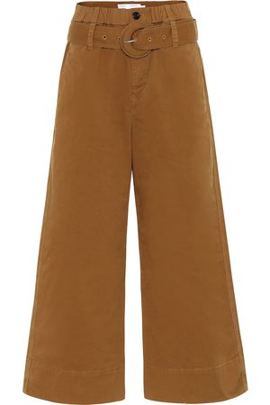 PROENZA SCHOULER WHITE LABEL Belted high-rise wide-leg pants