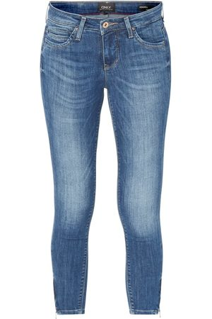 Only Jeansy o kroju skinny fit z zamkami model 'Kendell'
