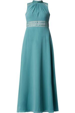 V.M. Kobieta Sukienki koktajlowe i wieczorowe - Sukienka wieczorowa z szyfonu z zakładkami