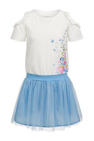Endo Sukienka z krótkim rękawem, odsłonięte ramiona i tiulowy dół, 9-13 lat
