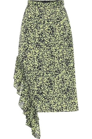 Rokh Kobieta Spódnice midi - Floral high-rise midi skirt