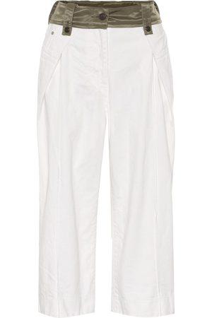SACAI High-rise cropped wide-leg jeans