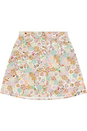 BONPOINT Floral cotton skirt