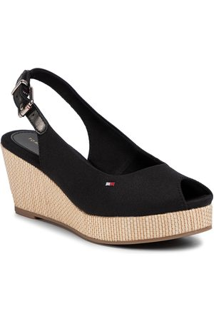 Tommy Hilfiger Espadryle - Iconic Elba Sling Back Wedge FW0FW04788 Black BDS
