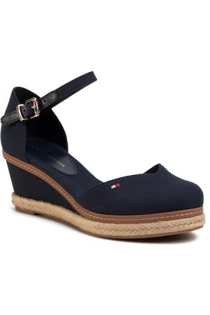 Tommy Hilfiger Espadryle - Basic Closed Toe Mid Wedge FW0FW04787 Desert Sky DW5