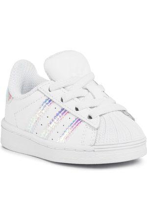 adidas Dziewczynka Na plaskiej podeszwie - Buty - Superstar El I FV3143 Ftwwht/Ftwwht/Ftwwht