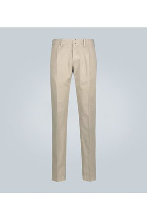 Incotex Kobieta Chinosy - Slim-fit cotton and linen chinos