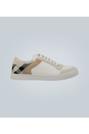 Burberry Kobieta Sneakersy - Leather and House check sneakers