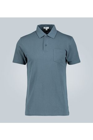 Sunspel Cotton-mesh polo shirt