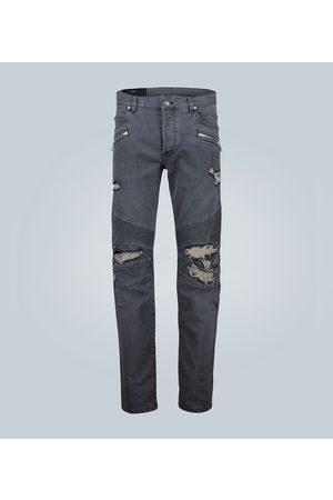Balmain Kobieta Skinny - Distressed skinny jeans