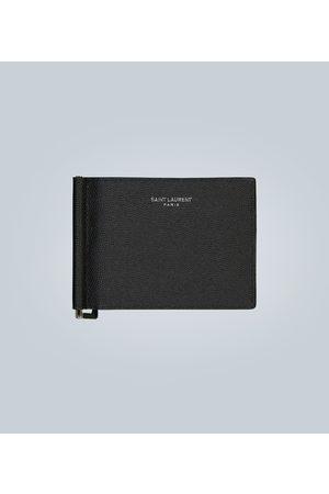 Saint Laurent Grain leather wallet with money clip