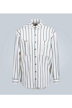 King and Tuckfield Oversized slubbed cotton shirt